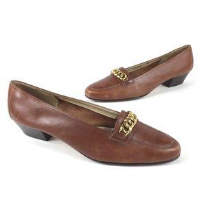Salvatore Ferragamo Brown Leather Pumps Size 7.5 B